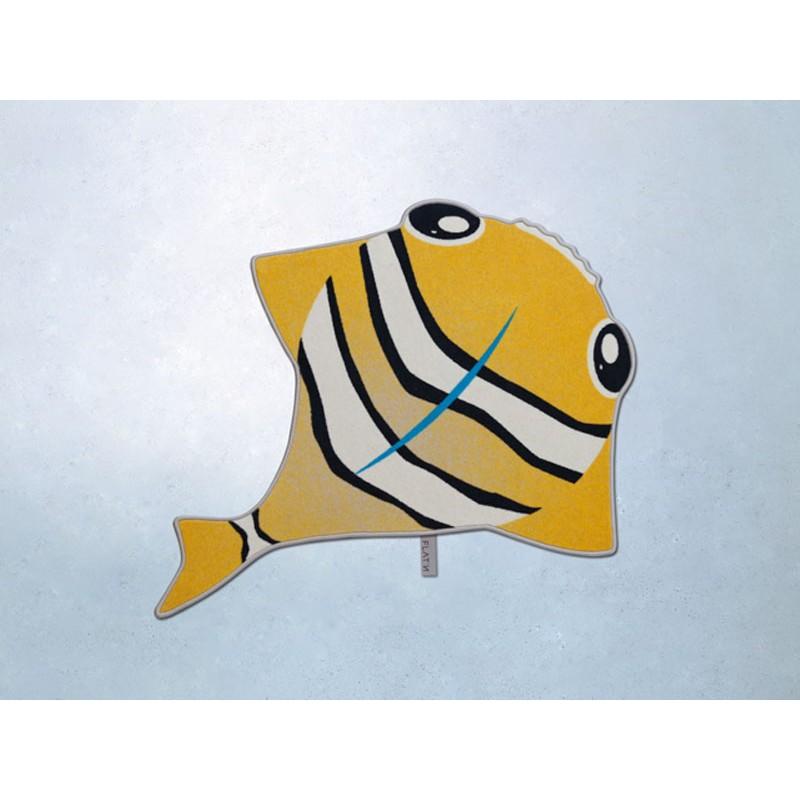 FLAT´N Teppich - The Fisch / Orange ( 125 x 145 cm)