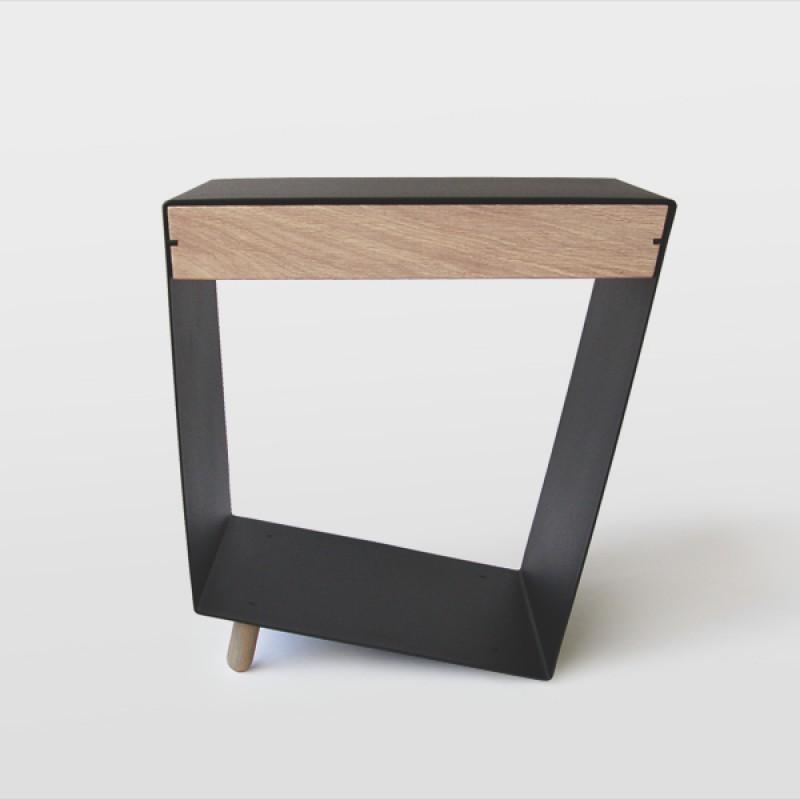 chris+ruby 12° Tisch mit Schublade schwarz