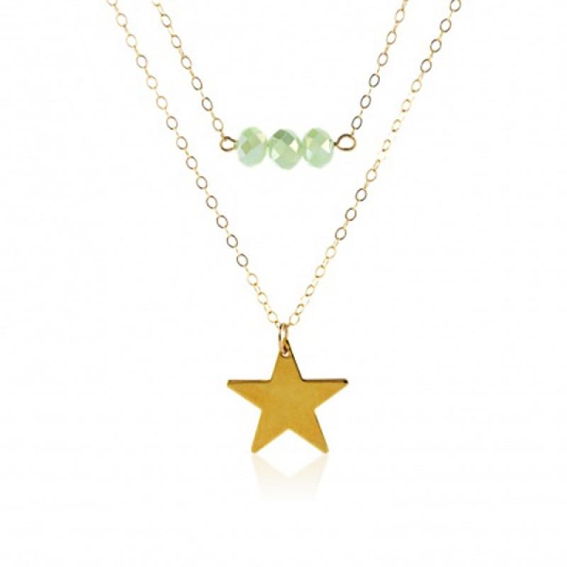 Anoa 2er Kette '3 Perlen, Stern'