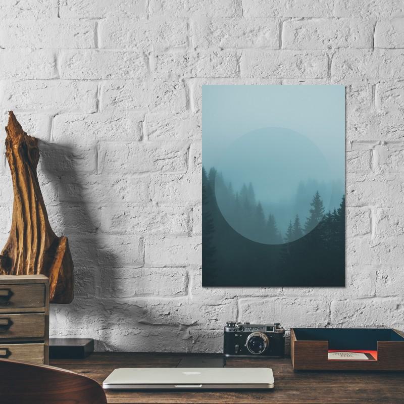 JOE MANIA / Modern Artprint Poster / Landscapes Circular  2 (Forest) DIN A4 - A0