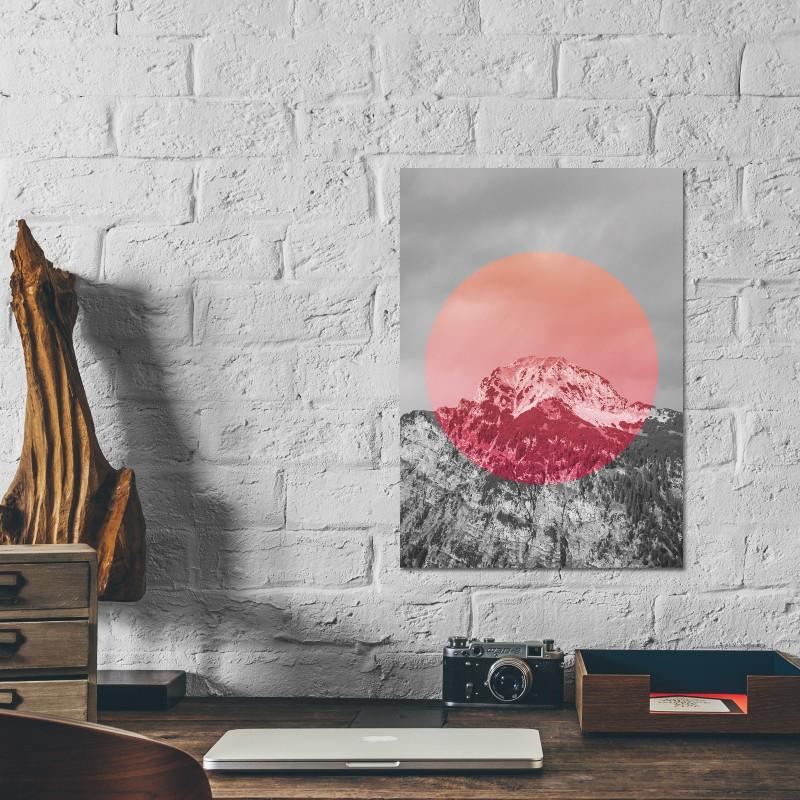 JOE MANIA / Modern Artprint Poster / Landscapes Circular  2 (Summit) DIN A4 - A0