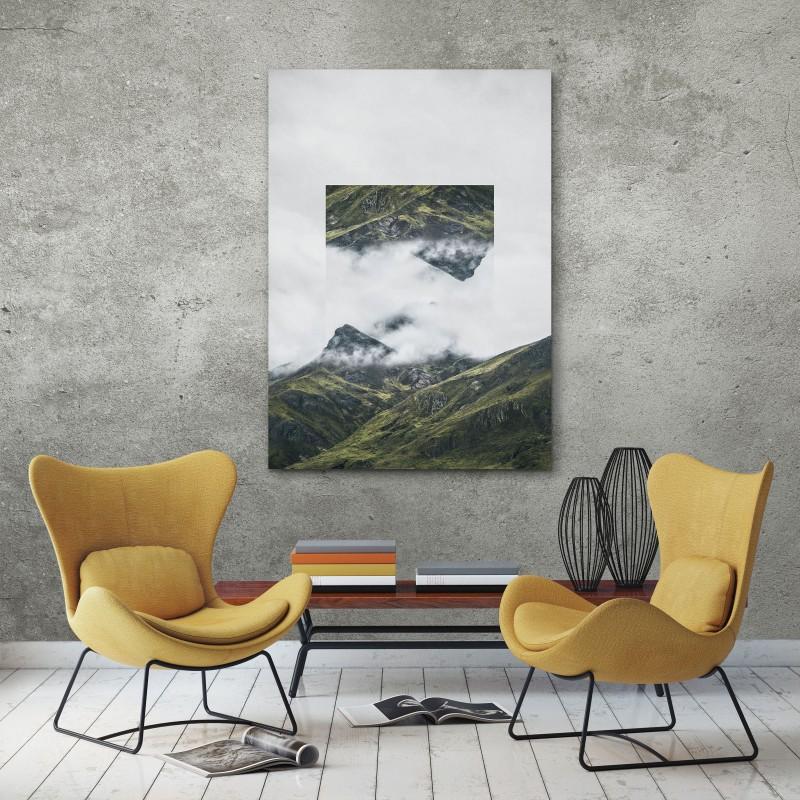 JOE MANIA / Modern Artprint Poster / Landscapes Mirrored  1 (Andes) DIN A4 - A0