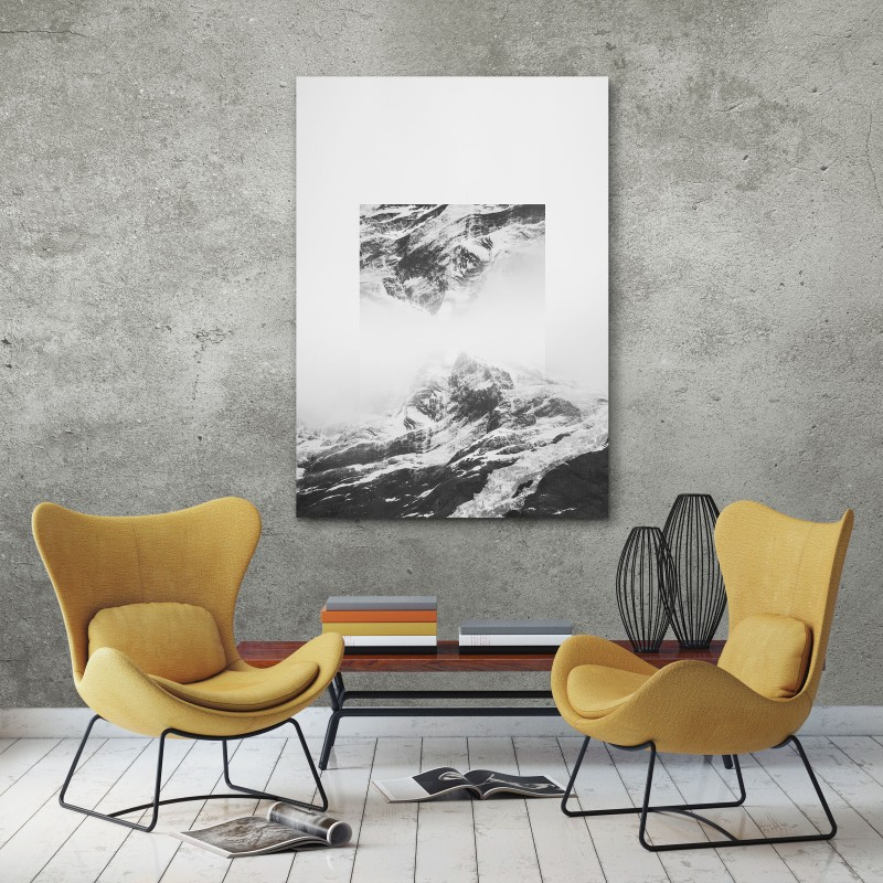JOE MANIA / Modern Artprint Poster / Landscapes Mirrored  1 (Torres del Paine) DIN A4 - A0