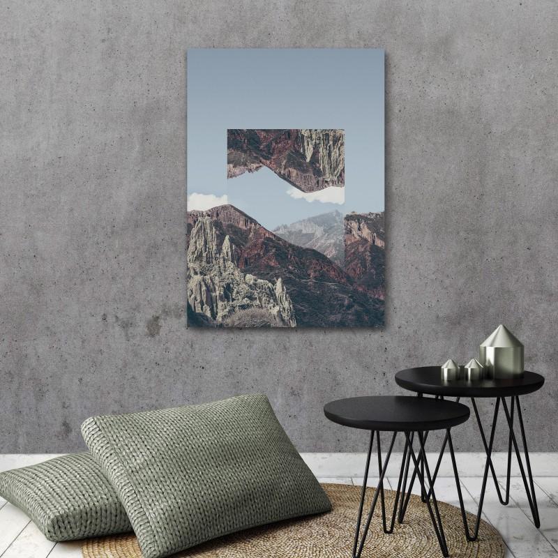 JOE MANIA / Modern Artprint Poster / Landscapes Mirrored  2 (Chacaltaya) DIN A4 - A0