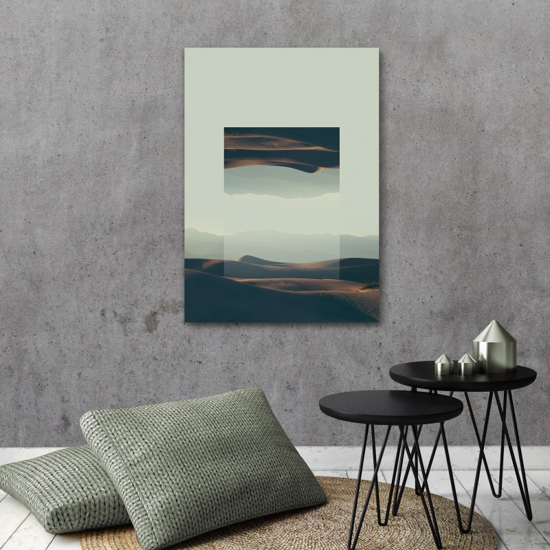 JOE MANIA / Modern Artprint Poster / Landscapes Mirrored  2 (Death Valley) DIN A4 - A0
