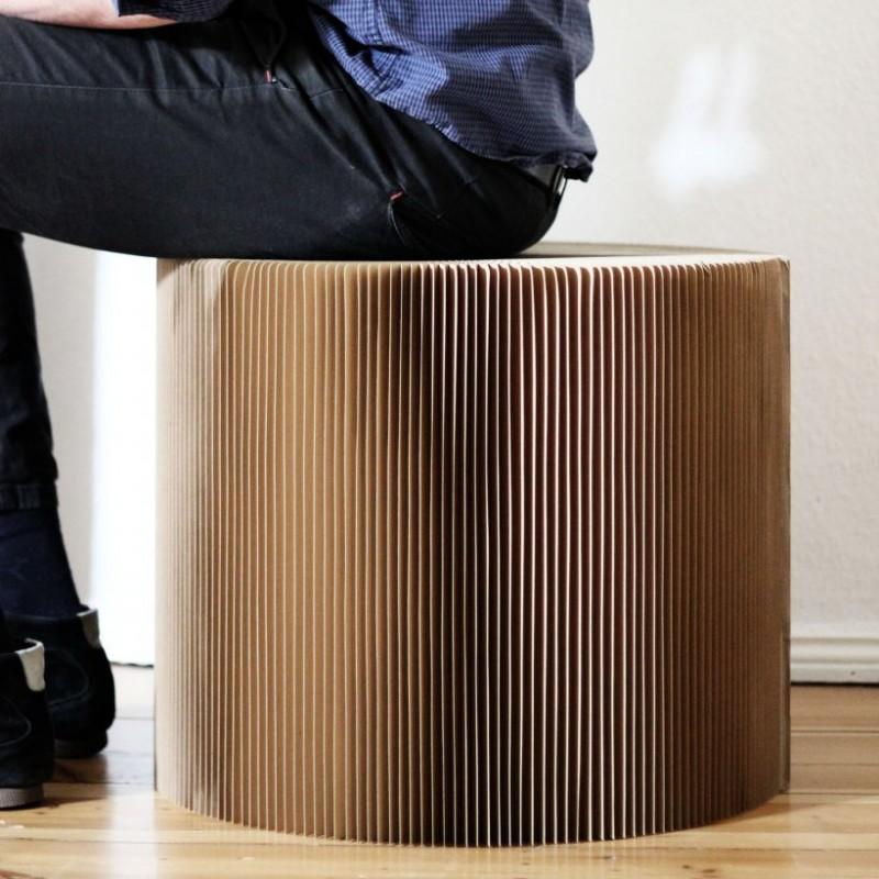 onlydesign Favino medium XL, Hocker/Tisch, Stuhl, Papierstuhl.