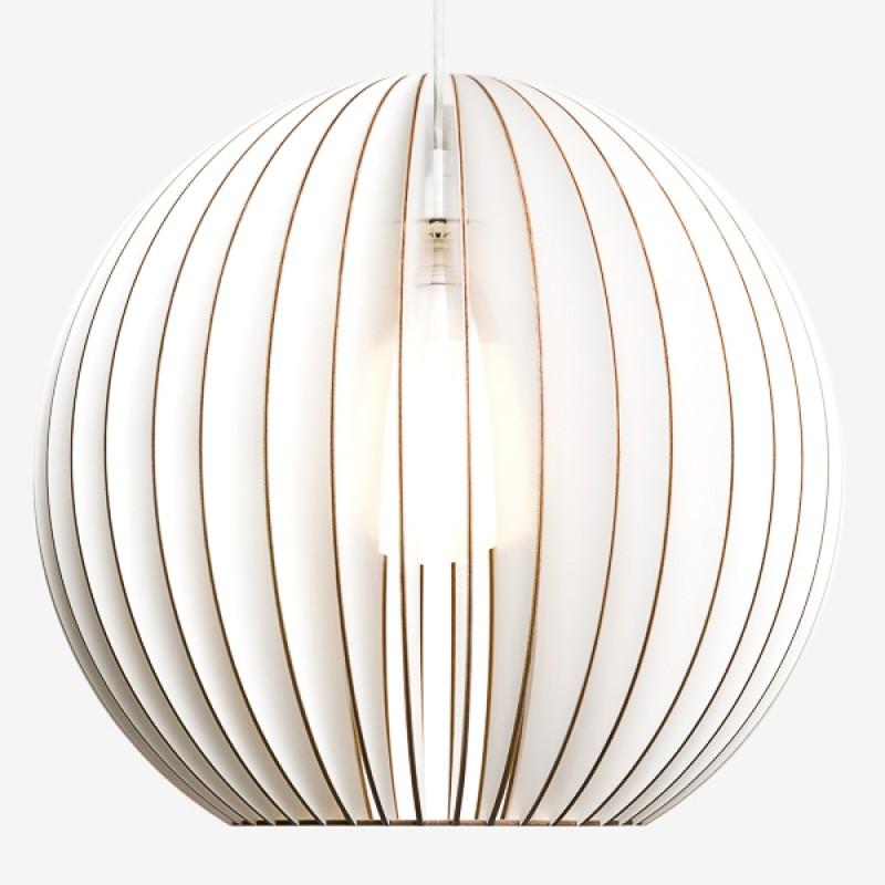 AION XL Pendelleuchte aus Holz (weiß)