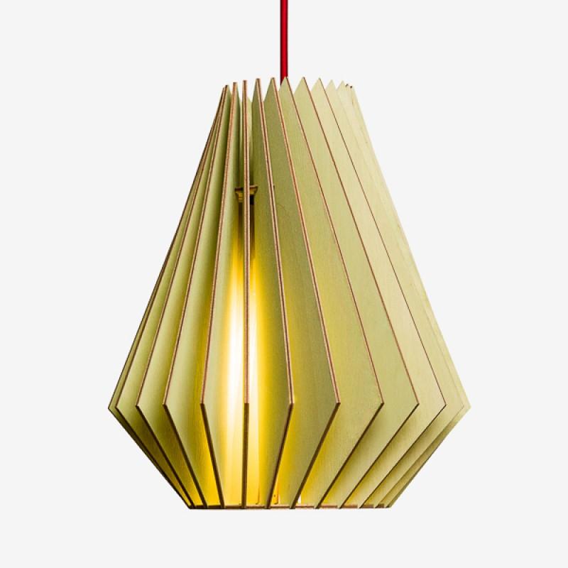 HEKTOR L Pendelleuchte aus Holz (gelb)