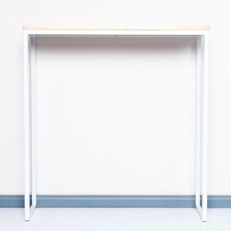 Konsolentisch aus recyceltem Bauholz und Stahl | THORN WIT