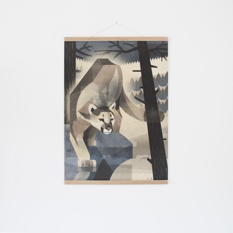 KLEINWAREN / VON LAUFENBERG Set / Mountain Lion + Posterleiste Eiche 50 cm