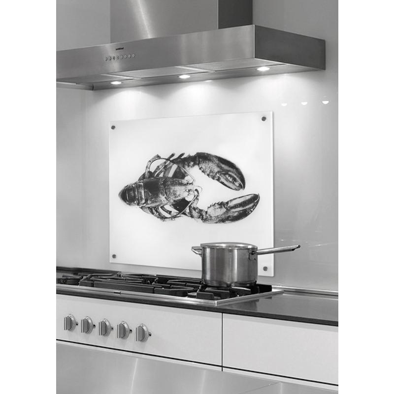 COGNOSCO Küchenrückwand Hummer - 50 x 60 cm - Druck hinter ESG Glas