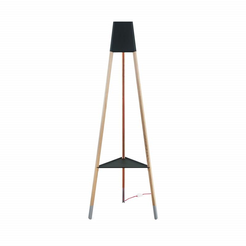soform manufaktur Stehleuchte La3b 170 cm schwarz + Tisch