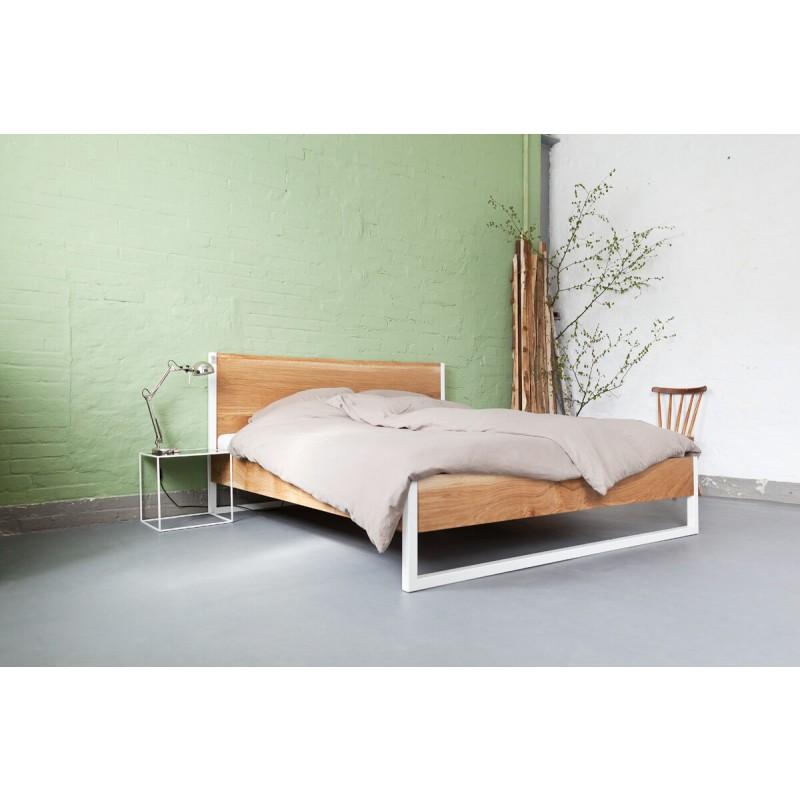 N51E12 Nature Oak Bed / Eiche -Stahl