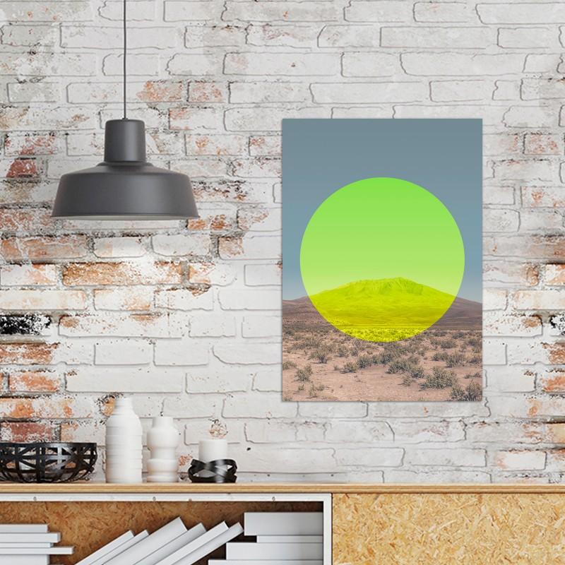 JOE MANIA / Modern Artprint Poster / Landscapes Circular 1 (Salar de Uyuni) DIN A4 - A0