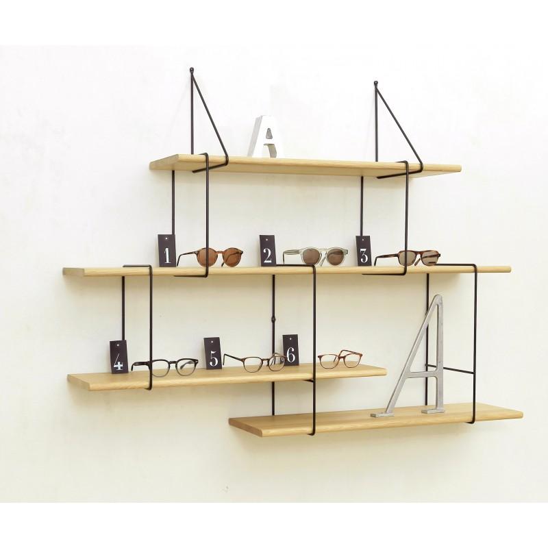 LINK shelving system setup02 oak/black