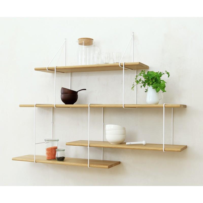 LINK shelving system setup02 oak/white