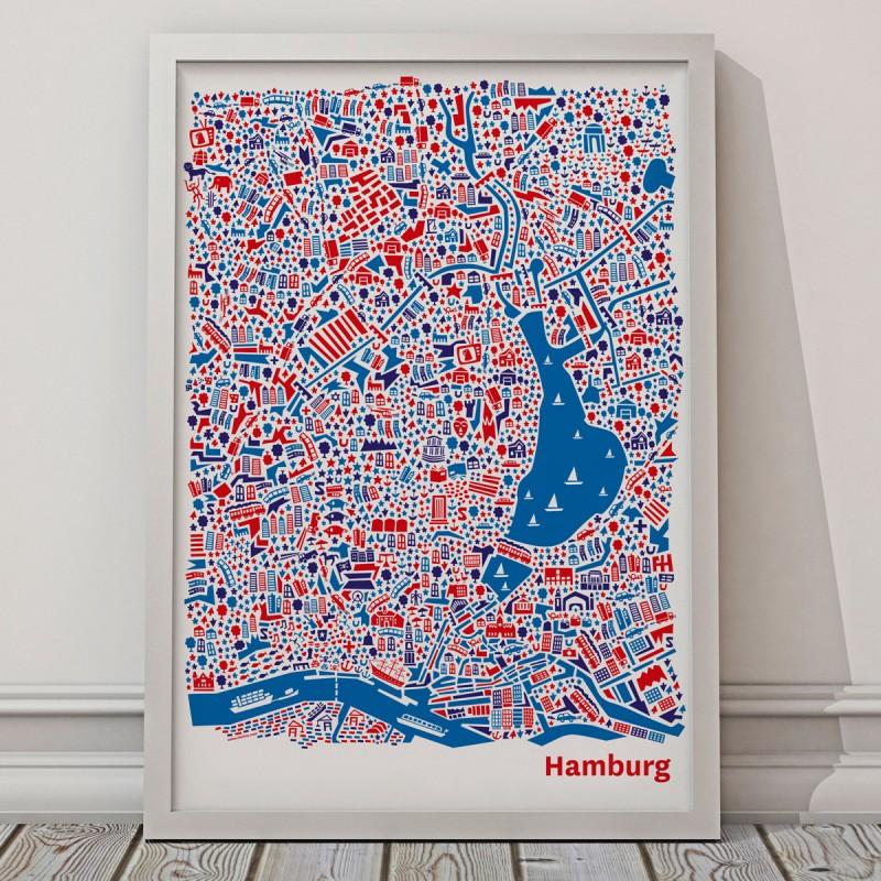Vianina Poster Hamburg 50 x 70