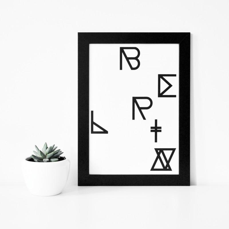 na.hili - BERLIN - Geometrical A4 Print