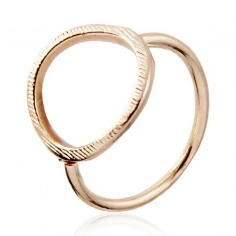 Anoa Ring 'Kreis' rosévergoldet