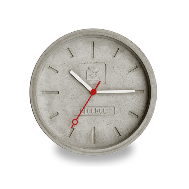 Ambientshop Clocroc Wanduhr Aus Beton   Aviation Big: