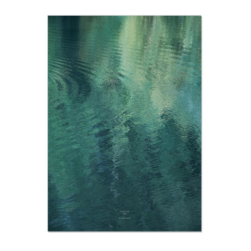 na.hili forest in the LAKE - A1 Artprint - Poster