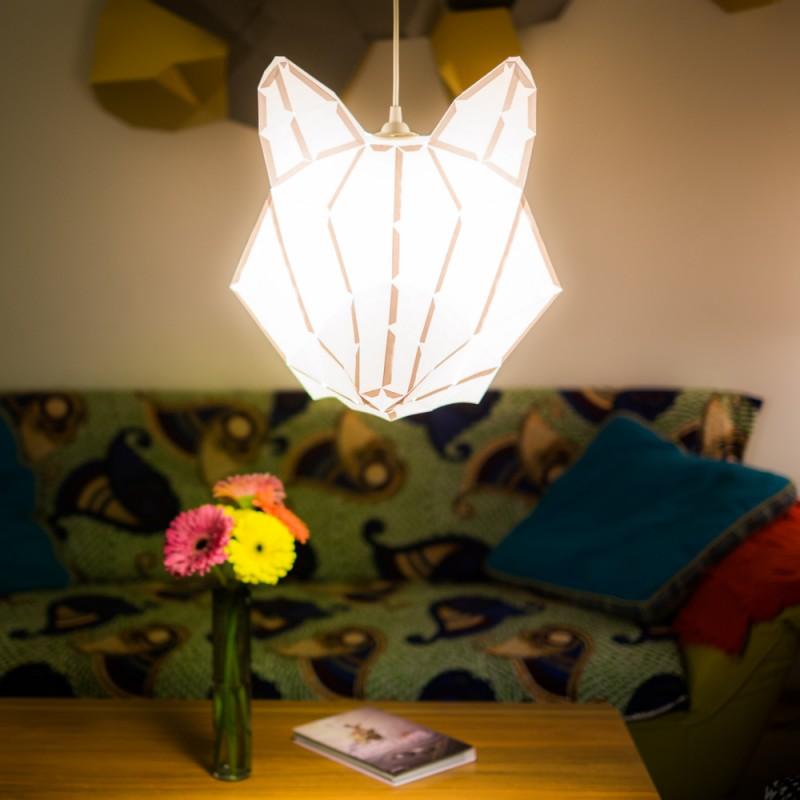 Fox Large - Do It Yourself Papierlampenschirm