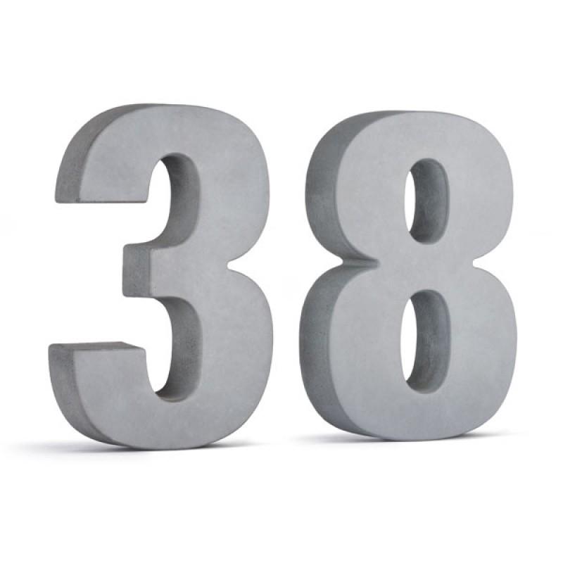 Korn Produkte Beton Hausnummer