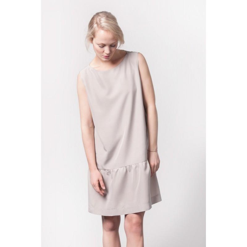 Johanna Junker // Trägerkleid mit Hüftnaht - nude (onesize)