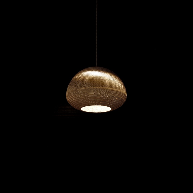 Pierre Guibert - Wellpappe-Lampenschirm, n3, type A - Hängeversion