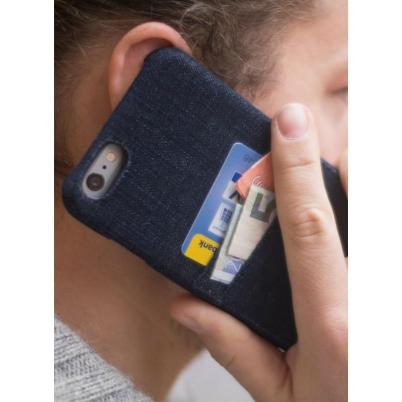 mineD HOLD EM - Handyhülle für iPhone 6/S & 6+ aus Jeans - BLAU