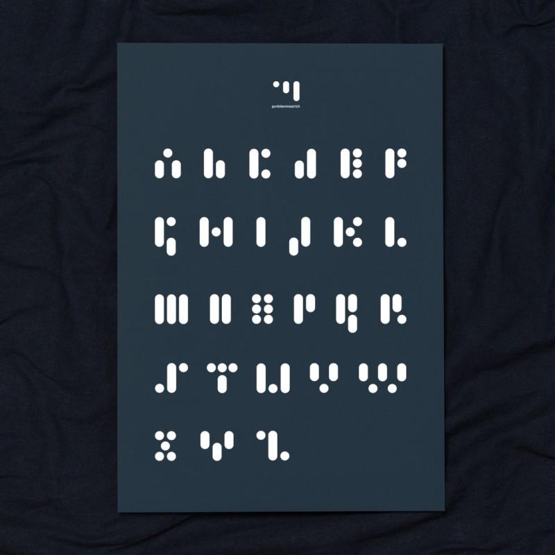 punktkommastrich – print abc.reflectingpond - verschiedene Größen