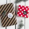Kleine Papeterie // Weihnachten // Geschenkanhänger // Handlettering schwarz