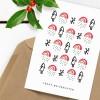 Kleine Papeterie // Weihnachtskarte // Regenbogen