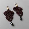 Irmeline - Accessoires Manufaktur »Posamente« Ohrringe in rot & schwarz