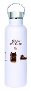 Roadtyping Gipfelstürmer isolierte Edelstahl Flasche 750ml