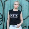 "KINDERGELD  ORGANIC Womens Raw Tank ""BERND"" (META) schwarz"