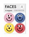 FINE FINE STUFF - Kühlschrankmagnete - Magnete - 4 Stück - FACES