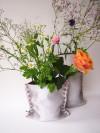 moij design Plünnen - kleine Vase aus Textilbeton