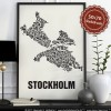 Buchstabenort Stockholm Poster Typografie