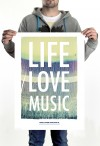 HOME IS WHERE YOUR HEART IS. - LIFE. LOVE. MUSIC. POSTER (50 x 70 cm)
