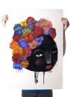 Martin Krusche – Poster »Blumenfrau« 50x70cm oder DINA3, Illustration