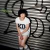 "KINDERGELD ORGANIC Womens Roll Sleeve T-Shirt ""KD"""