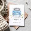 Paperlandscape | Faltkarte Bulli | The adventure begins | Hochzeitskarte Camper