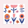 Notietzblock Temporäre Tattoos Frühling Blumen Set