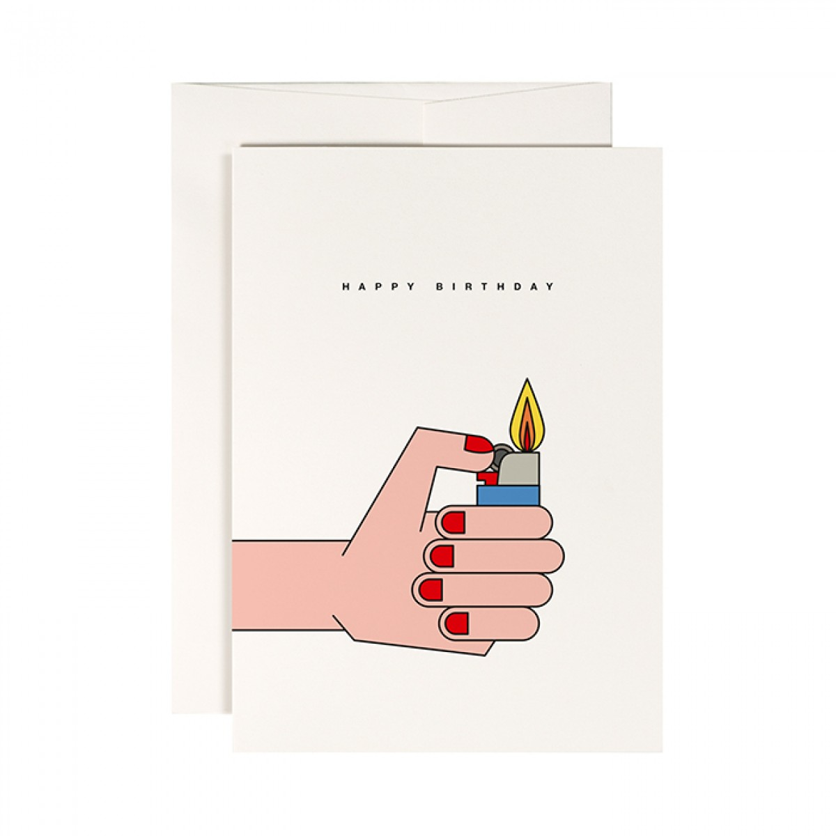 redfries candle – Klappkarte DIN A6 mit Umschlag