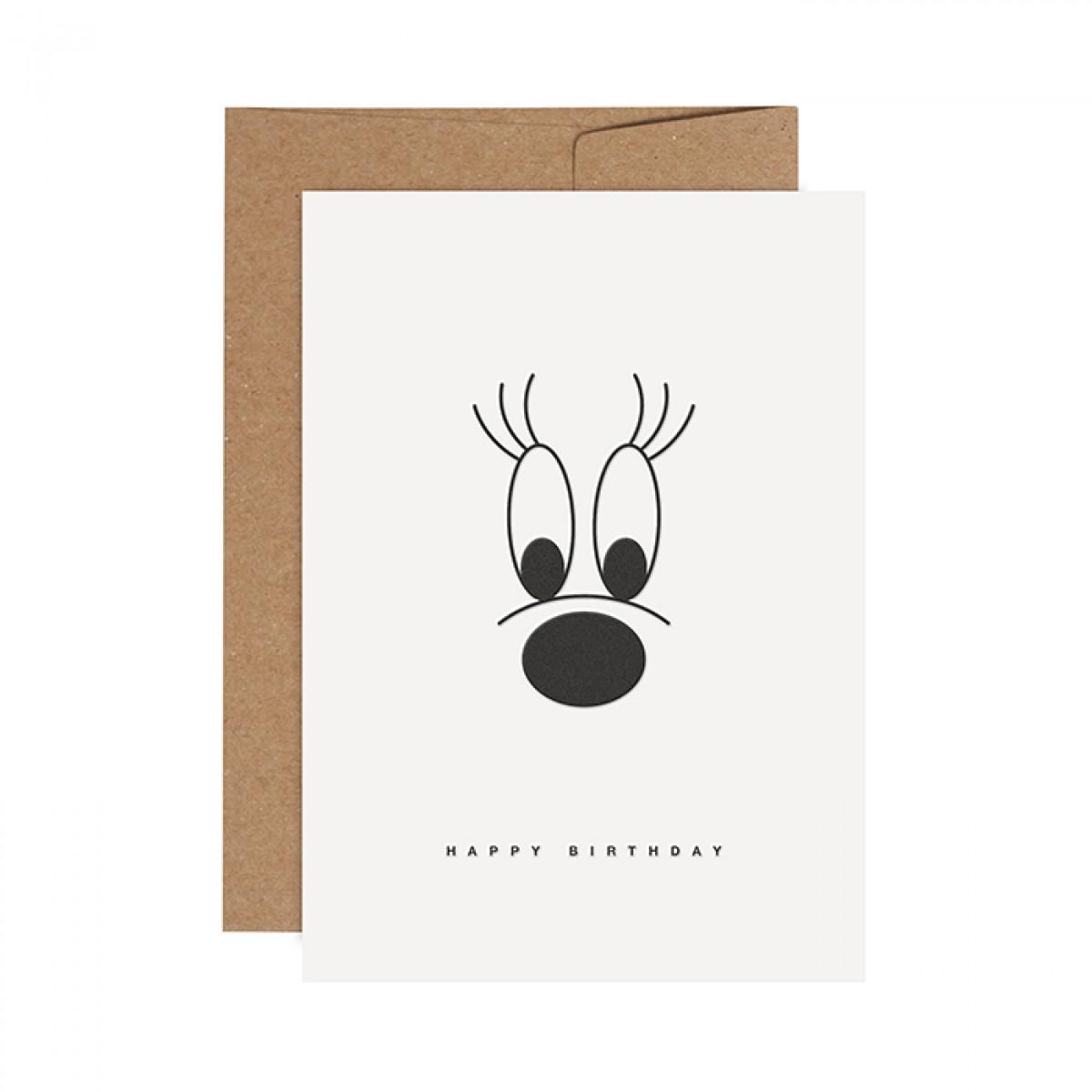 redfries big lashes –Letterpress-Klappkarte DIN A6 mit Umschlag