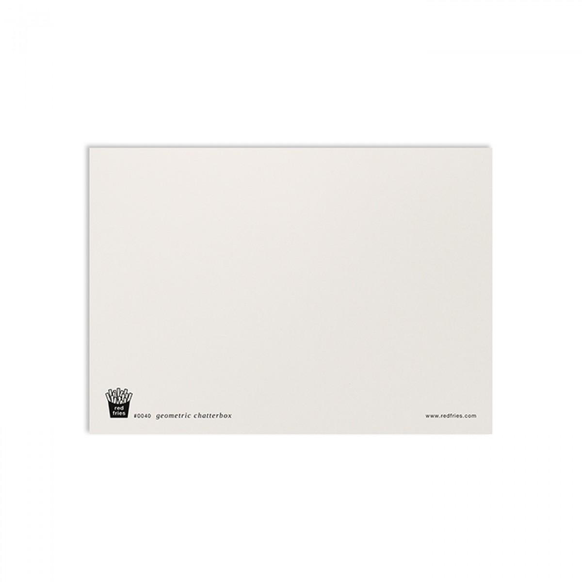 redfries geometric chatterbox – Postkarte DIN A6
