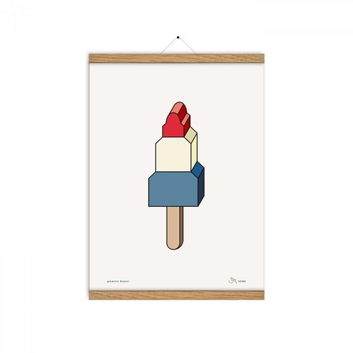 redfries geometric booster a3 – Kunstdruck DIN A3
