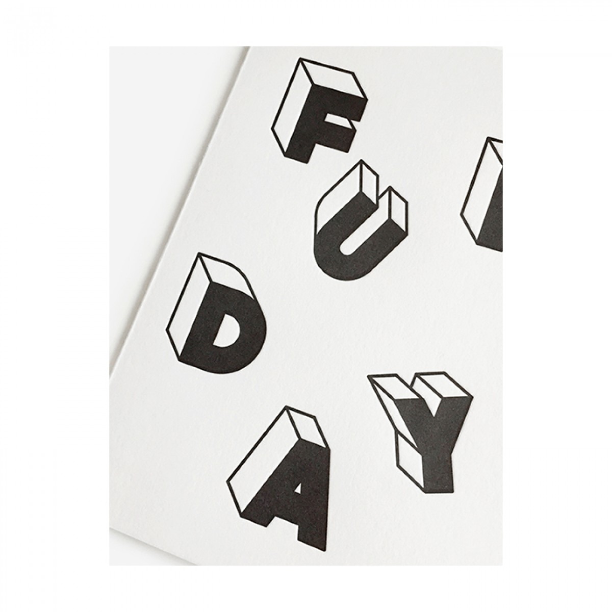 redfries funday – Letterpress-Klappkarte DIN A6 mit Umschlag
