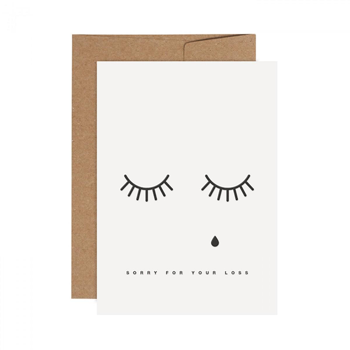 redfries teardrops – Letterpress-Klappkarte DIN A6 mit Umschlag